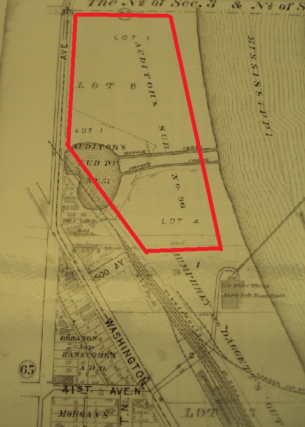 1903 plat map of the area east of 42nd, Lyndale and Washington