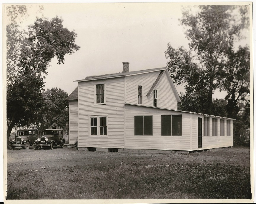 Valley View clubhouse, photo dated Sept. 3, 1929 (photo property of Joe Bissen)
