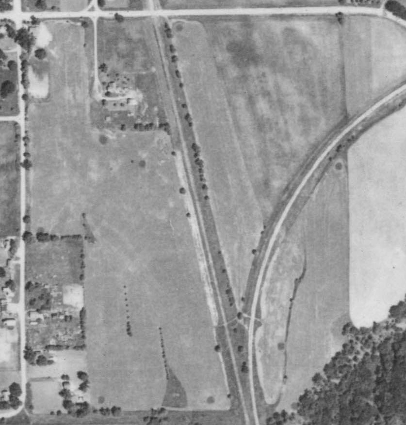 Aerial photo, Hastings Golf Club (the Valley View site), 1940. Photo courtesy of University of Minnesota's John Borchert Library.